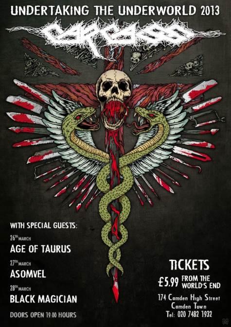 Carcass - Undertaking the Underworld 2013