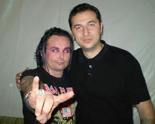Водещият Васко и Dani Filth - Cradle Of Filth