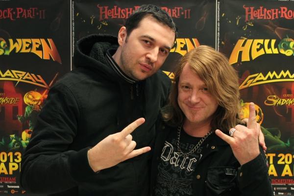Водещият Васко с Kai Hansen - Gamma Ray