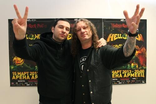 Водещият Васко с Markus Grosskopf - Helloween