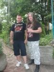 Организаторът Иван гривата и авторът Rock Thrashler