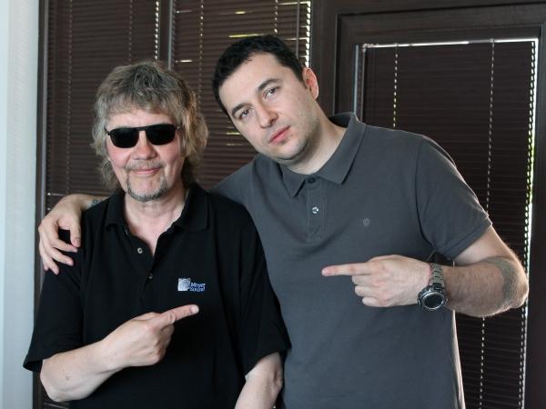 Водещият Васко и Don Airey - Deep Purple