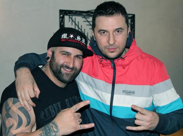 Водещият Васко и Aaron Rossi - Ministry