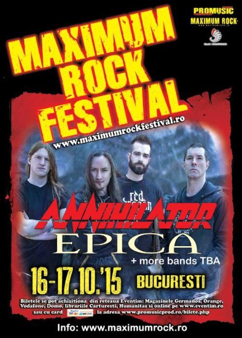 Annihilator на фестивала Maximum Rock 2015