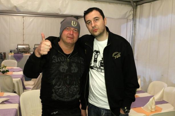 Водещият Васко и Michael Kiske - Unisonic, ex-Helloween