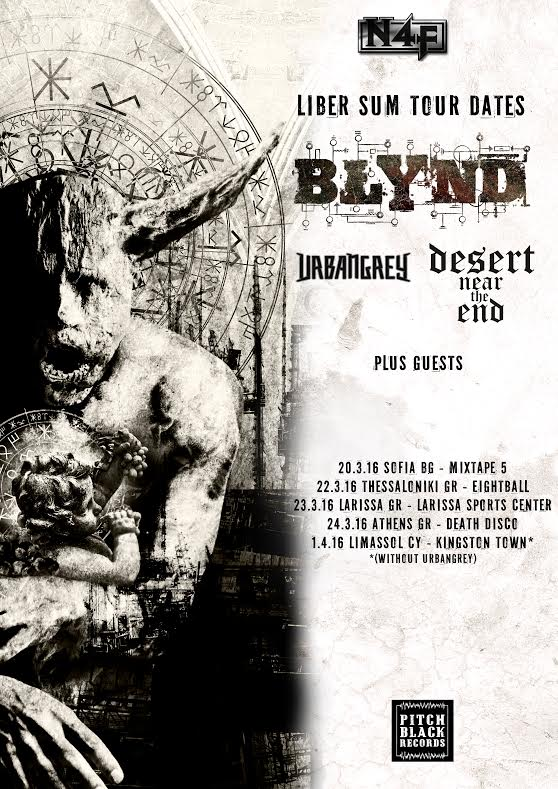Blynd, Urban Grey and Desert Near The End tour poster