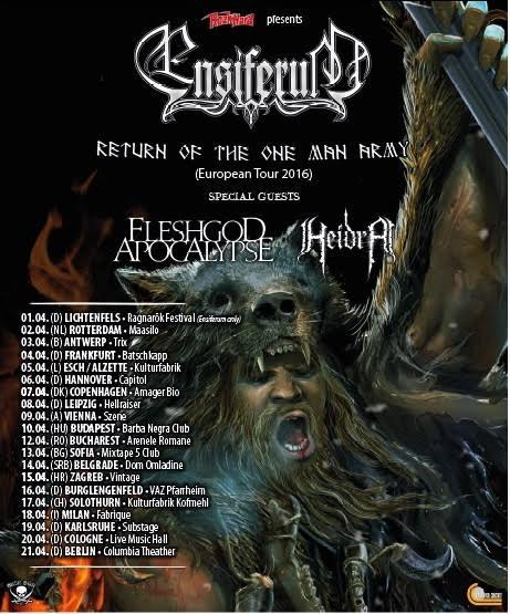 Ensiferum tour poster