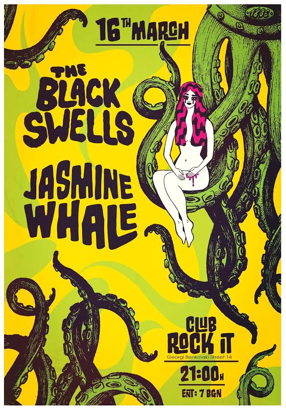 Jasmine Whale and The Black Swells poster