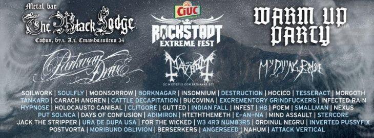 Rockstadt Extreme Fest Warm Up Party в The Black Lodge