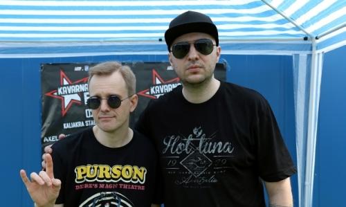 Водещият Васко Катинчаров и Christofer Jonsson - Therion