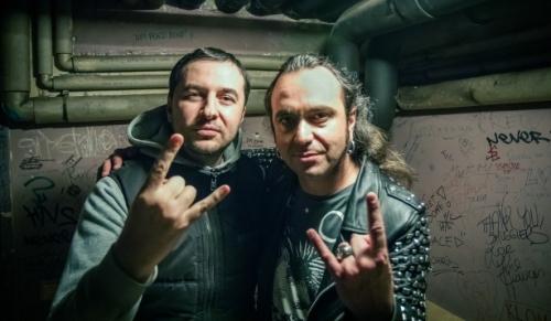 Водещият Васко Катинчаров и Fernando Ribeiro - Moonspell