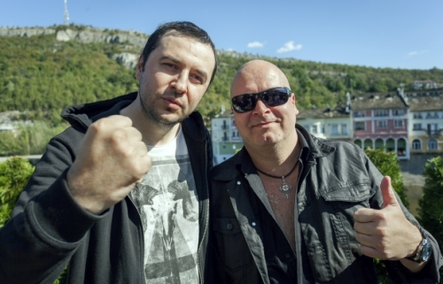 Водещият Васко Катинчаров и Michael Kiske - Unisonic