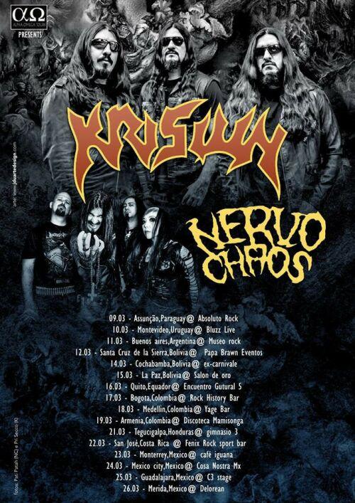 Nervochaos - Krisiun Tour