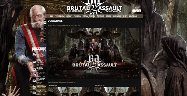 Brutal Assault website new vision