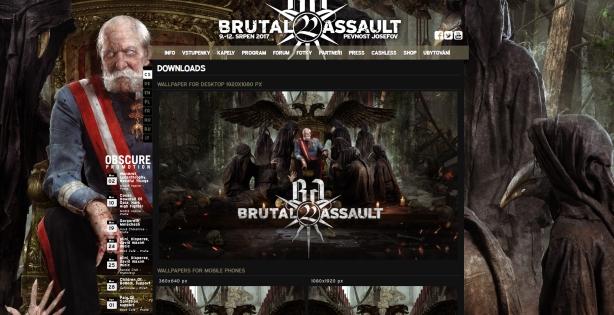 Brutal Assault website new vision