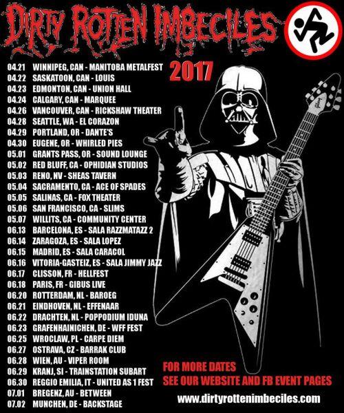 D.R.I. European Tour 2017