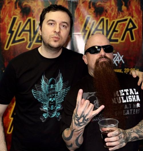 Водещият Васко Катинчаров и Kerry King - Slayer