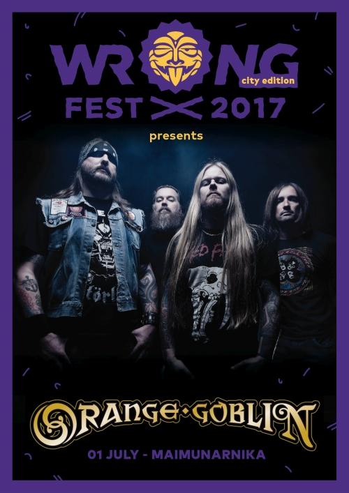 Orange Goblin on Wrong Fest 2017