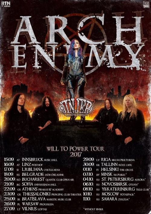Arch Enemy tour 2017