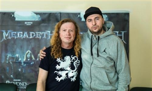 Водещият Васко и Dave Mustaine - Megadeth