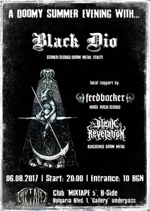 Black Dio, Bleak Revelation and Feedbacker live in Sofia