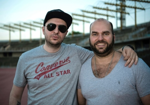Водещият Васко и Henning Rumenapp - Guano Apes