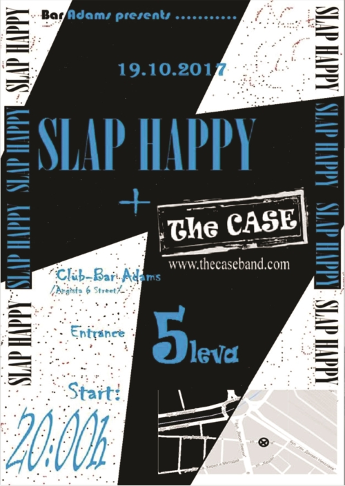 Slap Happy и The Case с концерт в Адамс