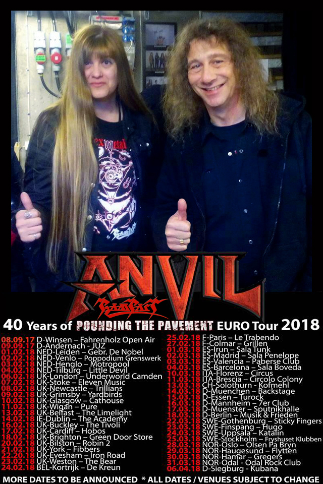 Anvil & Rampart Tour poster