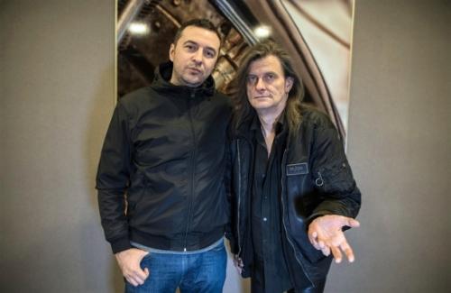 Водещият Васко и Michael Weikath - Helloween