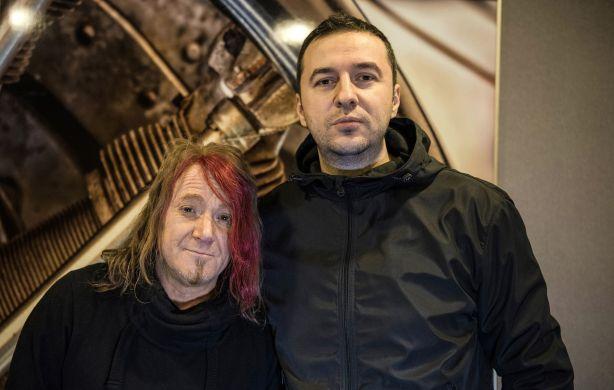 Водещият Васко и Kai Hansen - Helloween