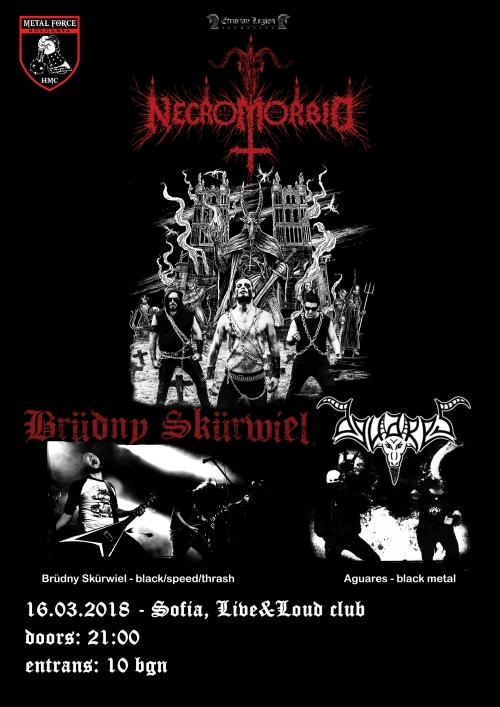 Necromorbid, Brüdny Skürwiel и Aguаres с концерт в София