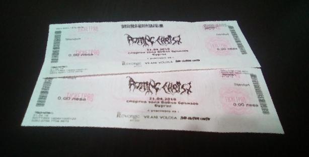 Спечели билет за концерта на Rotting Christ в Бургас