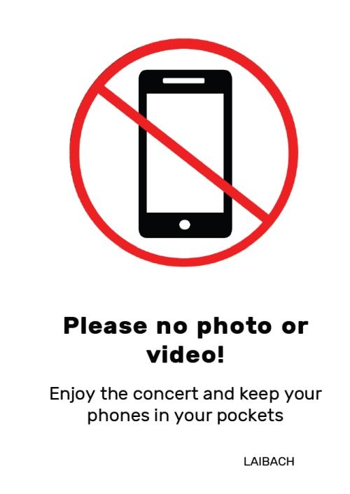 Без снимки на концерта на Laibach в София