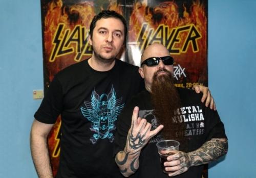 Водещият Васко и Kerry King - Slayer