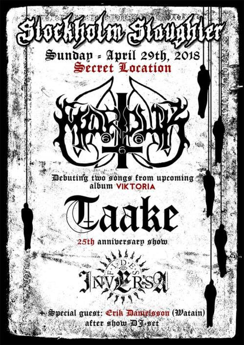 Marduk и Taake на Stockholm Slaughter 2018