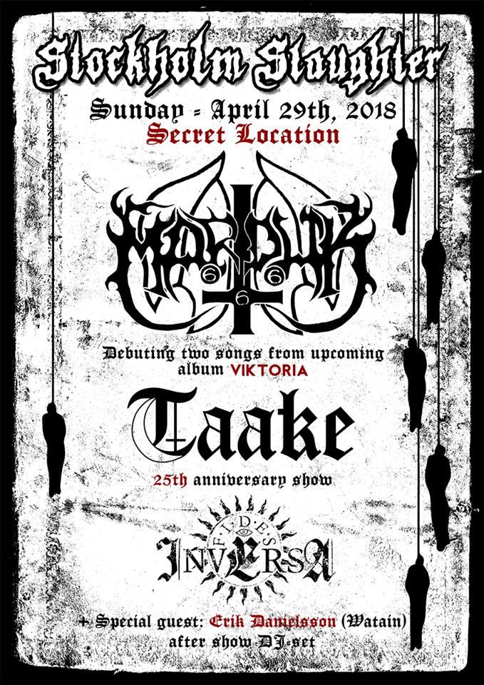 Marduk и Taake на Stockholm Slaughter 2018