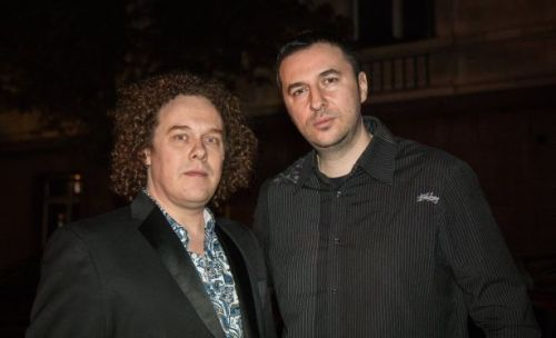 Водещият Васко Катинчаров и Daniel Cavanagh - Anathema