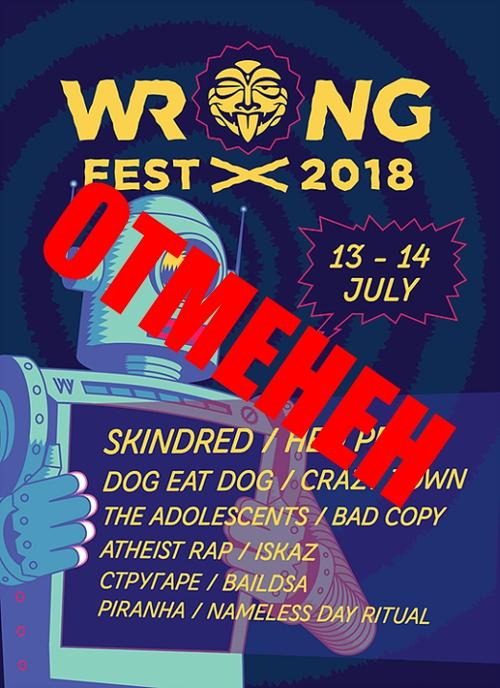 Wrong Fest 2018 се отменя