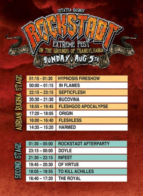 Програма на Rockstadt Extreme Fest 2018