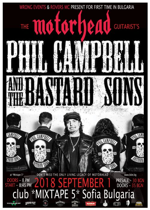 Phil Campbell And The Bastard Sons в София