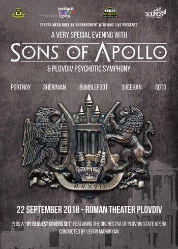 Концерт на Sons Of Apollo в Пловдив