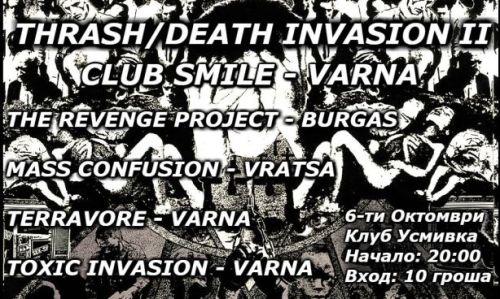 Thrash/Death Invasion in Varna