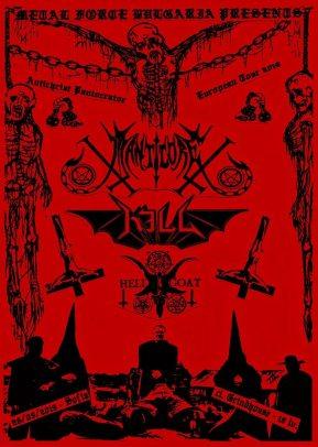 Antichriste Pantocrator European Tour - Manticore, Kill, Hellgoat