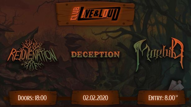 Концерт на Morbid, Rejuvenation и Deception в София
