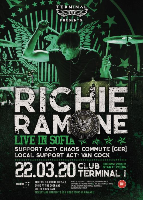 Концерт на Richie Ramone в София