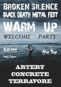 ARTERY, CONCRETE и TERRAVORE на подгряващия купон на Broken Silence Black Death Metal Fest 2020 в Бургас