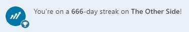 666 поредни дни публикуване в The Othe Side