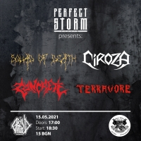 SQUAD OF DEATH, CIROZA, CONCRETE и TERRAVORE в София на 15 май
