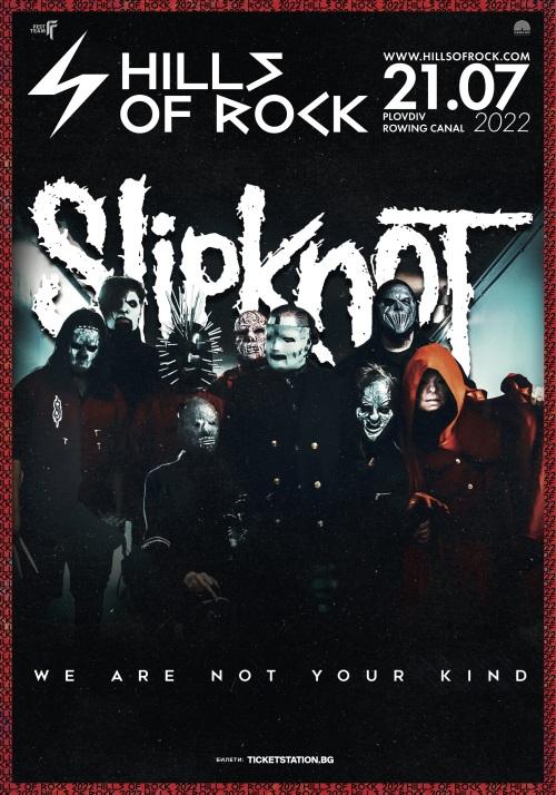 Slipknot на Hills of Rock 2022 в Пловдив