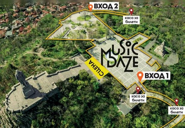 Music Daze Map